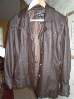 Katniss Everdeen Hunger Games Halloween Costume Faux Brown Leather Jacket