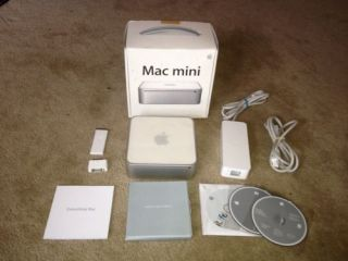 Apple Mac Mini 1 83 GHz Intel Core 2 Duo 2 GB RAM 80 GB Hard Drive HTPC