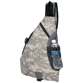 Heavy Duty Poly Digital Camo Sling Backpack School Hiking College