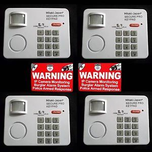 Lot Home Security System Motion Sensing Detecting Alarm Keypads Warning Stickers