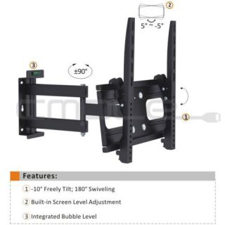 "Heavy Duty Full Motion Wall Mount for 26"" 47"" LED 3D LED LCD Plasma TV'S"