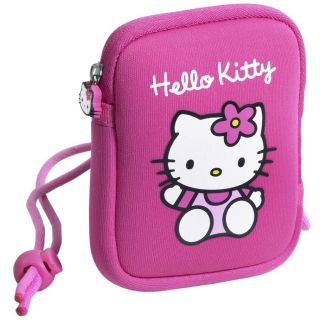 Hello Kitty Neoprene Soft Camera Case Pink with Wrist Strap
