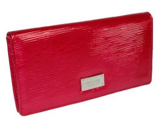 Kenneth Cole Reaction Women Red Slim Clutch Wallet