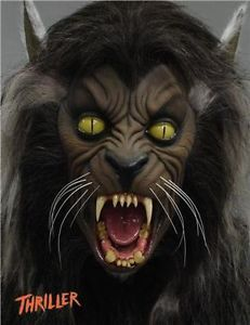 Movie Prop Michael Jackson Thriller Wolf Head Wolfman FX Horror Werewolf Werecat