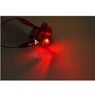 4pcs 12V Car Red LED Light Illuminated Cover SPST Toggle Switch Control