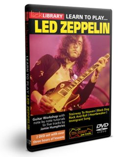 Lick Library Learn to Play Jimmy Page's LED Zeppelin Guitar Instructional 2 DVD