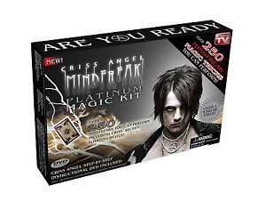 Criss Angel Mindfreak Platinum Magic Kit w Instructional DVD Learn Magic Tricks