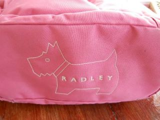 Radley Pink Fabric Baby Changing Bag with Changing Mat and Radley Dog