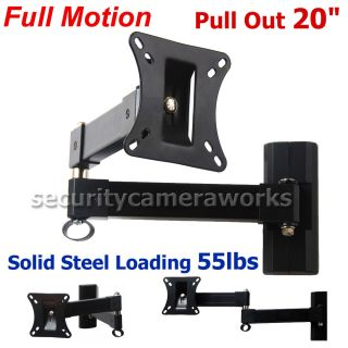 Articulating Tilt Swivel LCD LED TV Monitor Wall Mount 17 19 20 22 23 24 26 BM9