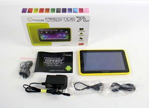 Yellow Visual Land Prestige 7L Android Internet Tablet w Bundled Accessories