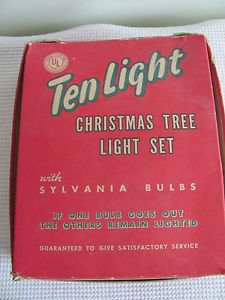 Vintage Christmas Tree Light Bulbs