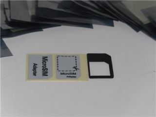 New Black iPhone 4 4S iPad 1st Gen 2nd Gen Micro Sim Card Adapter