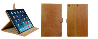 Handmade Genuine Real Leather Case Cover Skin for Apple iPad Air iPad 5 Brown
