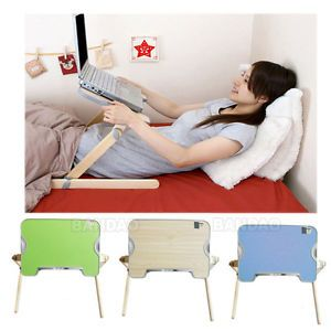 Portable Laptop Bed Stand Working Table Notebook Computer Wooden Folding Desk
