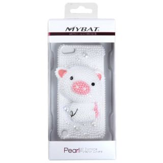 For Apple iPod Touch 5th Generation Case Cover Pearl 3D Diamond Simple Pig