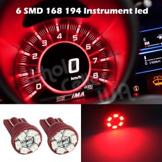 2X Super Red Gauge Instrument Cluster Speedometer Dashboard LED Light Bulbs 168