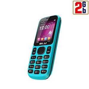Blu Jenny T172I 2GB Blue Unlocked GSM Dual Sim Quadband Bar Cell Phone