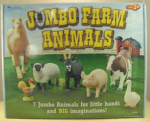 Jumbo Farm Animals Learning Resources Age 2 Cow Pig Horse Sheep Rooster Etc
