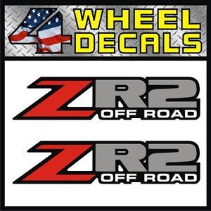 ZR2 Off Road Vinyl Decals Stickers Labels Chevy S10 Sonoma ZR 2 Pickup 4x4