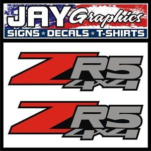 ZR5 4x4 Decals Stickers Labels Chevy S10 Sonoma ZR 5 Off Road