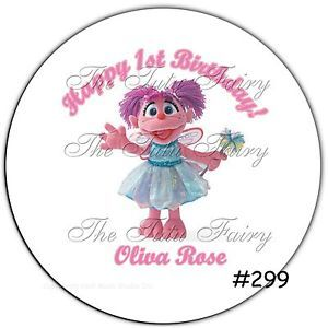 Abby Cadabby Girl Birthday Name Stickers Party Treat Favor Invite Round Labels