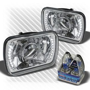 7x6 Projector Headlights w Super Bright LED Built in Super White Light Bulbs