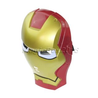 Iron Man LED Light Eye Face Mask Fancy Dress Masquerade Costume Halloween Party