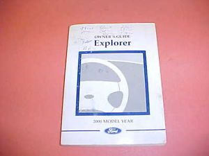2000 Ford Explorer Truck Owners Manual Service Guide 00