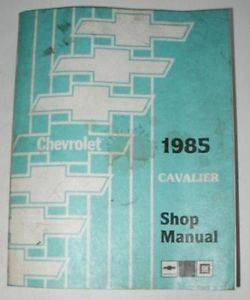 1985 Chevrolet Cavalier Orig Dealer Service Shop Manual