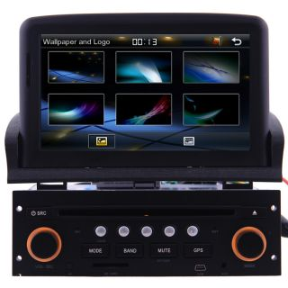 "7"" HD Screen Car GPS Navigation Radio BT TV DVD Player for 2001 2010 Peugeot 307"