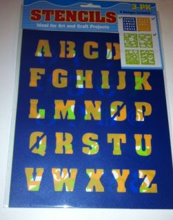 "1"" Stencils English Alphabet Letters Numbers 0 9 Math Symbols Dinosaurs"