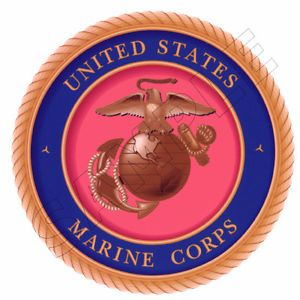 Marine Corp Emblem Edible Cake Topper Decoration Image