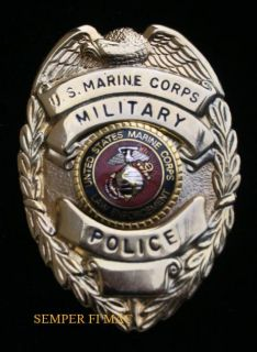 US Marine Military Police MP Authentic Marines Pin USMC