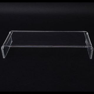 "New 21"" Crystal Acrylic Laptop Computer Monitor Display Table Riser Stand Desk"