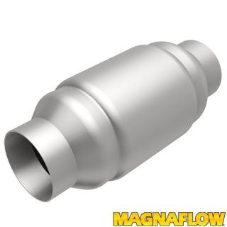 "Magnaflow 54956 Universal High Flow Catalytic Converter Round Spun 2 5"" in Out"