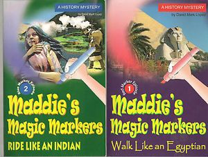 Two Maddie's Magic Markers Books by David Mark Lopez