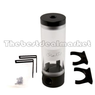 Cylinder 150 Reservoir Water Tank w 2 Fitting Plug for PC Liquid Water Cooling