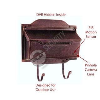 Mail Box Battery Powered Hidden Spy Camera DVR Security Video Recorder Nanny