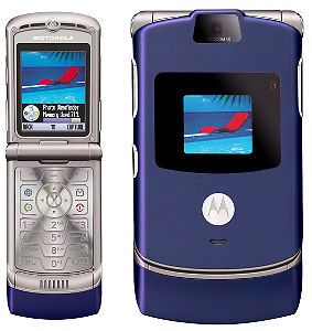 New Motorola RAZR V3 Blue Unlocked at T T Mobile GSM Phone