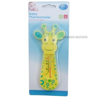 Baby Thermometer Giraffe Animal Yellow Green Floats in Bath Children Kids