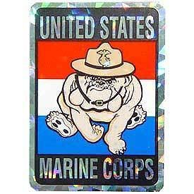 Marine Corps Bulldog Logo Window Sticker USMC Decal