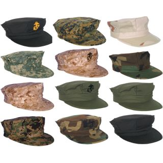 Rigid 2 Ply Construction Marine Corps Cap USMC 7 Point Hat Government Specs