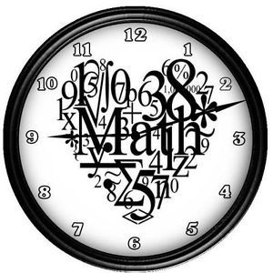Personalized Math Professor Teacher Clock Gift
