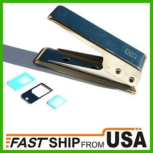US iPhone 5 Nano Sim Card Cutter Sim Adapter Cut Regular and Micro to Nano Sim