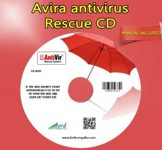 Avira Antivirus Rescue CD Virus Removal Tools Malware Fix Repair Computer Laptop