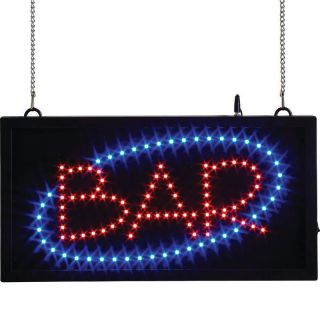 Illuminated Bar Display Multi Color LED Lit Hanging Window Sign Lighted Banner