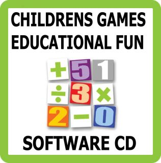 Childrens Fun Learning Educational Games Software CD Kids Learn Maths English