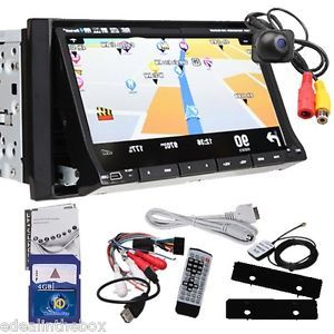 "Kudos Map 2Din 7"" Car Stereo DVD Player GPS Car Logo Pip iPod TV BT Free Camera"
