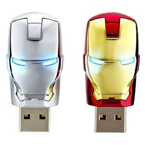 1pcs New USB 2 0 Iron Man Model Design 4GB 8GB 16GB Memory Stick Flash Pen Drive