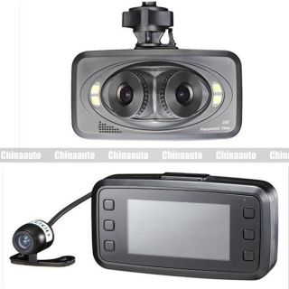 Full HD 3 Lens Panoramic Car DVR Driving Recorder Video Camera Camcorder 2 7inch